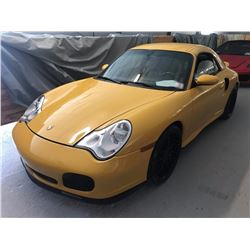 2005 Porsche 911 Turbo Cabriolet S Convertible; 3.8L H6 FI DOHC; Standard Transmission; Gasoline; Al