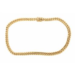 NECKLACE:  [1] 14 karat yellow gold Cuban chain necklace, 14.6mms x 30s; 500.7 grams