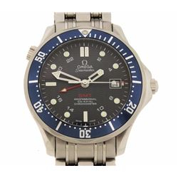 WATCH:  [1] Stainless steel gents Omega Seamaster Co-Axial GMT 300m Professional Chronometer Automat