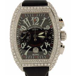 WATCH: Franck Muller King Conquistador watch; (354) rb diamonds, 1.3-2.0mm=est. 6.95 cttw, V.Good/G-