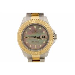WATCH:[1] 18kt yellow gold and stainless steel Men's Rolex Oyster Perpetual Yachtmaster (40mm) wrist
