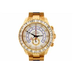 WATCH: [1] 18kt yellow gold Men's Rolex Oyster Perpetual Yachtmaster II wristwatch; White dial with