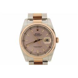ROLEX: Men's St.Steel/18kr Rolex Oyster Perpetual DateJust Watch; Model 116231; Serial 2F594516; MVM