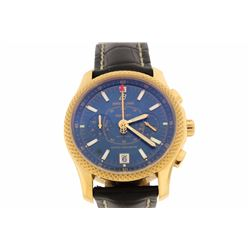 WATCH: Men's 18kr Breitling for Bentley Mark VI chronograph wristwatch; 42.3mm round case; Deep Blue