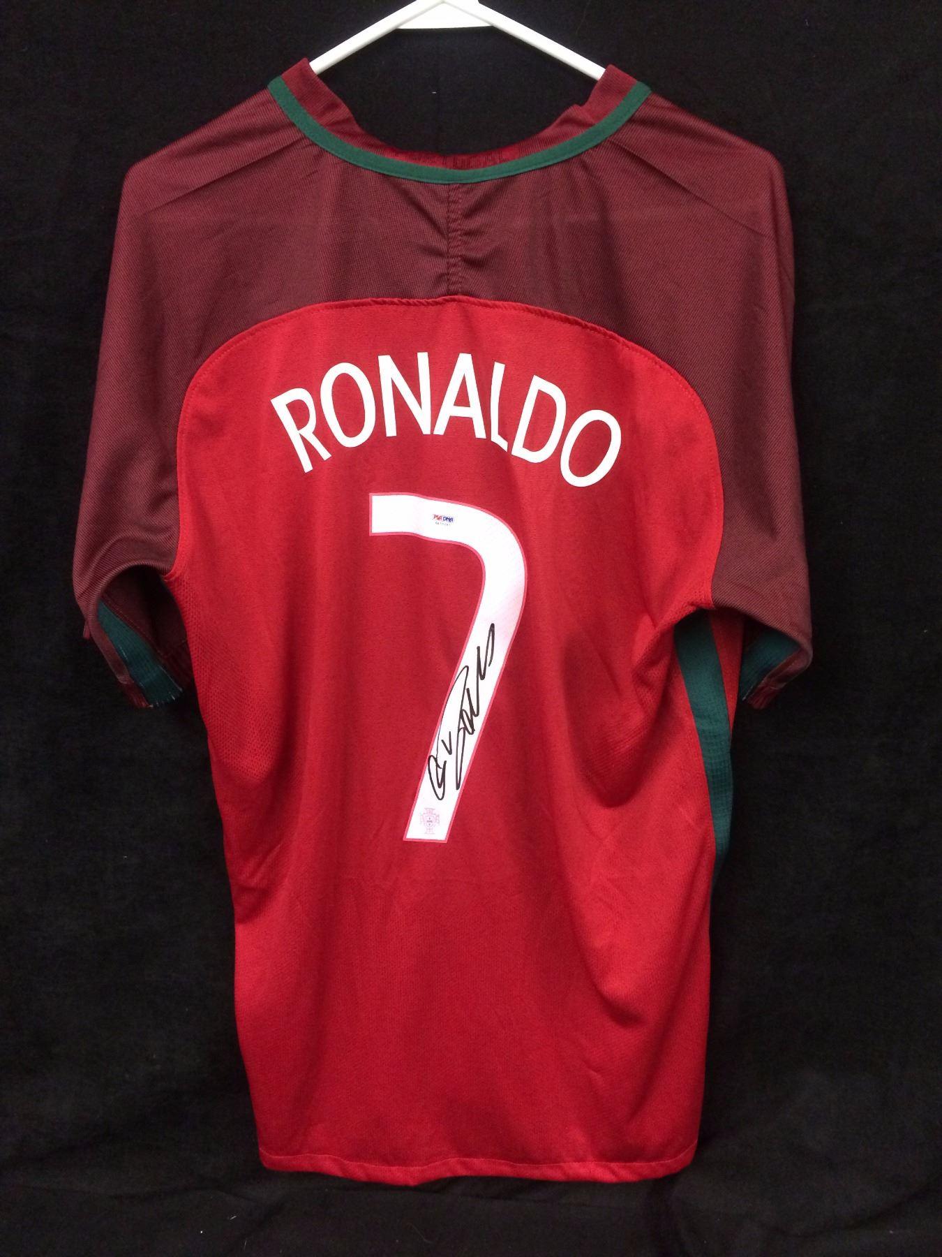 big sale ab33b 340fa Cristiano Ronaldo Signed Authentic Portugal Soccer Jersey (PSA COA)