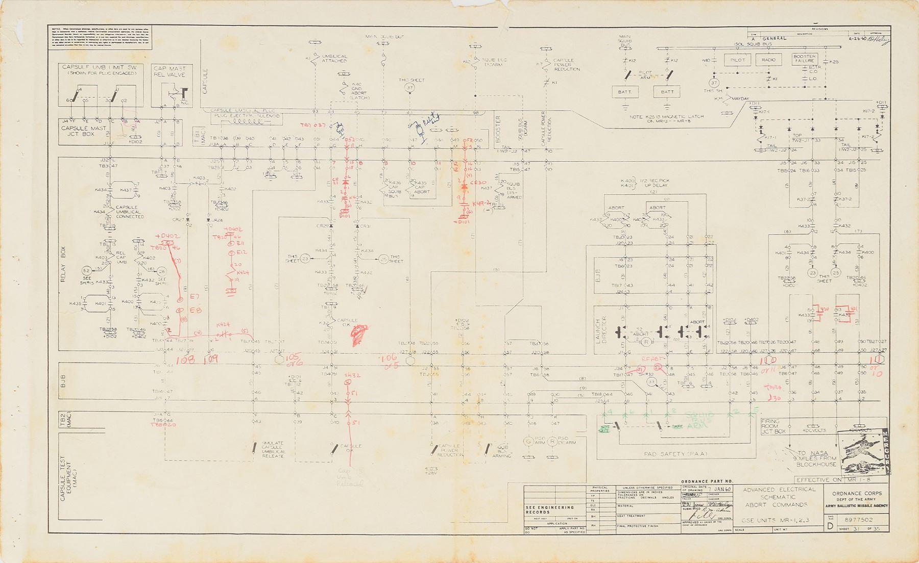 image 3 : mercury redstone 1960 gse electronics schematics