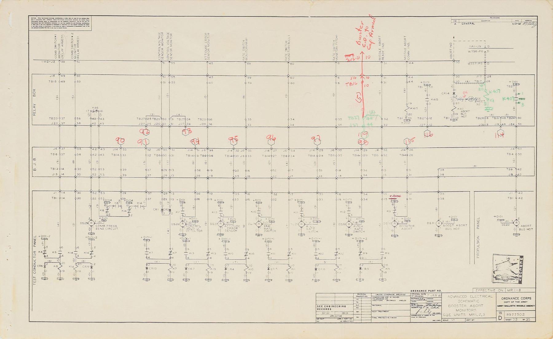 image 4 : mercury redstone 1960 gse electronics schematics