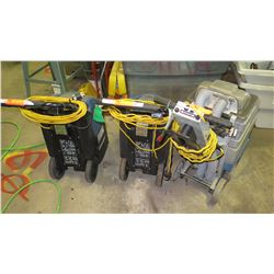 3 Carpert Cleaners, Polaris 500 & Powr Flite (being sold for parts/repair)