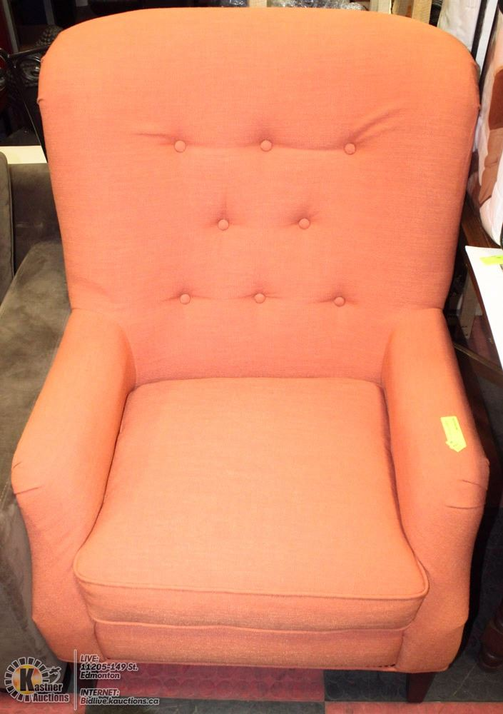 Sensational Showhome Orange Fabric Accent Chair Pabps2019 Chair Design Images Pabps2019Com