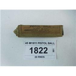 45 M1911 PISTOL BALL