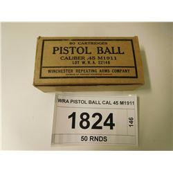 WRA PISTOL BALL CAL 45 M1911