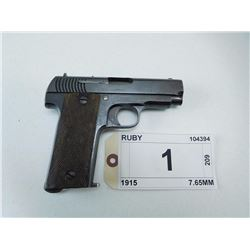 RUBY , MODEL: 1915 , CALIBER: 7.65MM