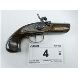 JUKAR , MODEL: PHILADELPHIA DERRINGER REPRODUCTION , CALIBER: 45 PERCUSSION