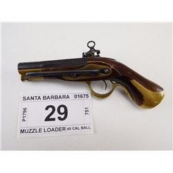 SANTA BARBARA , MODEL: RIPOLL BOOT PISTOL , CALIBER: 45 CAL FLINTLOCK