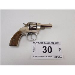 HOPKINS & ALLEN , MODEL: XL NO 1 DOUBLE ACTION , CALIBER: 22 SHORT