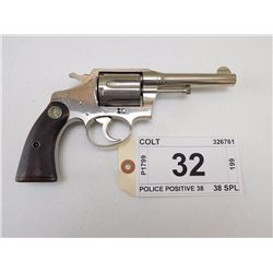 COLT , MODEL: POLICE POSITIVE 38 , CALIBER: 38 SPL
