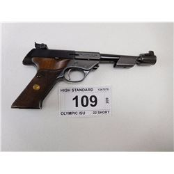 HIGH STANDARD , MODEL: OLYMPIC ISU , CALIBER: 22 SHORT