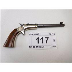 STEVENS  , MODEL: NO 10 TARGET , CALIBER: 22 LR