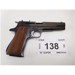 """STAR (PARTS GUN) , MODEL:  """"B"""" SUPER , CALIBER: 9MM PARA"""