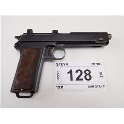 STEYR , MODEL: 1911 , CALIBER: 9MM STEYR