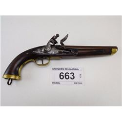 UNKNOWN BELGIAN , MODEL: PISTOL , CALIBER: 69 CAL
