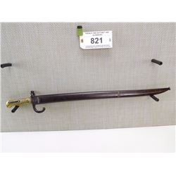FRENCH 1866 BAYONET AND SCABBARD