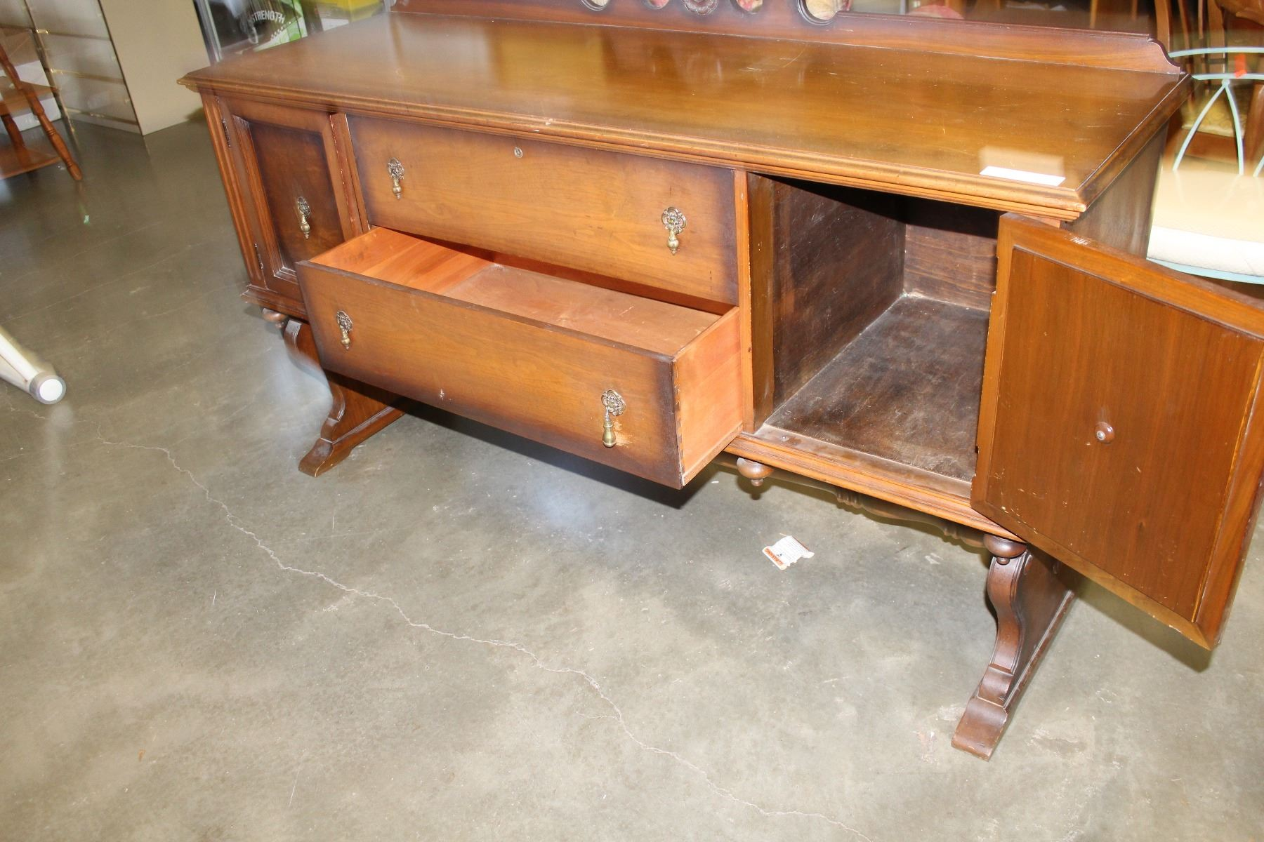 North American Furniture Company Walnut Sideboard