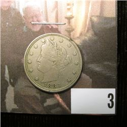 1883 Liberty Nickel, No Cents, VF.