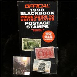 """Official 1998 Blackbook Price Guide To United States Postage Stamps Twentieth Edition""; & 1959 $3 F"