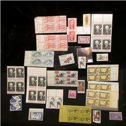 Mint, unused group of U.S. 2c to 6c Stamps; & 1960 $3 Federal Migratory Bird Hunting Stamp, Unused,