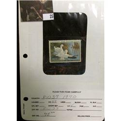 1970 $3 Federal Migratory Bird Hunting Stamp, OG, NH, VF. Scott RW37.