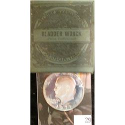 "1971S S Silver Proof Eisenhower Dollar; & Original Box with contents ""Bladder Wrack (Fucus Vensiculo"