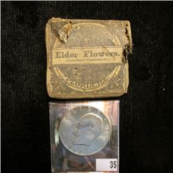 "1971S S Silver Gem BU Eisenhower Dollar; & Original Box with contents ""Elder Flowers (Sambucus Canad"