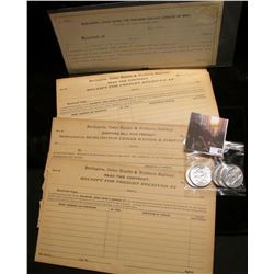 """Group of various unissued Freight forms from """"Burlington, Cedr Rapids & Northern Railway""""; & (5) 196"""
