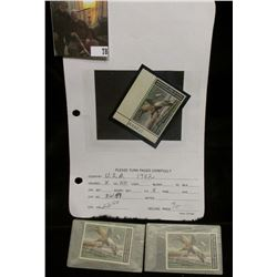 Plate number corner & (2) singles 1982  RW40 Federal Migratory Bird Hunting and Conservation $7.50 S