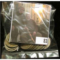 Group of (20) Old U.S. Buffalo Nickels. Circulated.