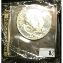 """1971S S Silver Proof Eisenhower Dollar; & Original Box with contents """"Linden Flowers. Tilia American"""