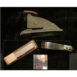 (3) Old Staplers, all appear to be in good working condition and no doubt 'Doc' used these to place
