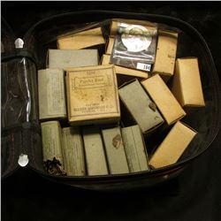 "(5) Original Box with contents ""Allaire, Woodward Co. Lobelia Herb (Lobelia Inflata) Peoria, ILL."";"