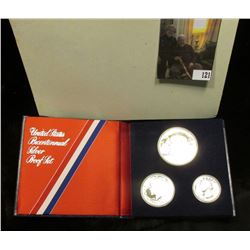 1976 S U.S. Three-piece Silver Proof Set in original box as issued.