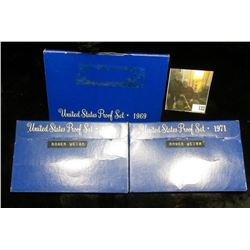 1969 S Silver & (2) 1971 S Clad U.S. Proof Sets in original boxes as issued.