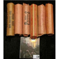 1910 P, 26 P, 44 P, 50 S, 54 S, & 58 P (BU)  the rest Circulated Rolls of Lincoln Cents. (6 Rolls)