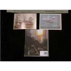 2009 RW76 & 2010 RW77 Federal Migratory Bird Hunting and Conservation $15.00 Stamp, not signed, Very