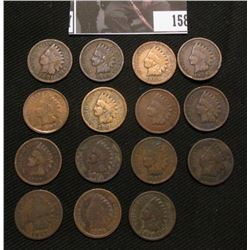 (15) Mixed Date Indian Head Cents grading good or better.