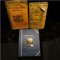 """1979 & 82 """"The Old Farmer's Almanacs"""" by Robert Thomas; & 1938-60 Partial Set of Jefferson Nickels i"""