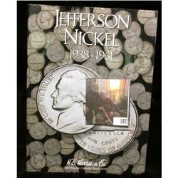 1938-61 Jefferson Nickels Set in a H.E.Harris & Co. Coin Folder. Missing only the 1939 D.