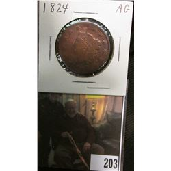 1824 U.S. Large Cent, AG.