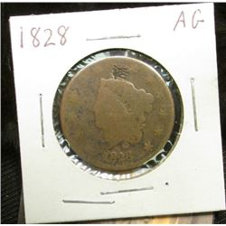 1828 U.S. Large Cent, AG.