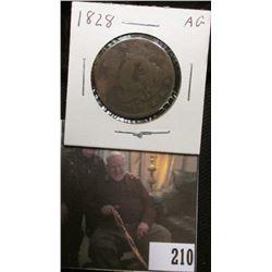 1828 U.S. Large Cent, AG. Damaged.
