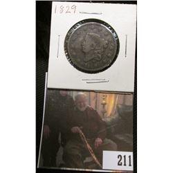 1829 U.S. Large Cent, VG.